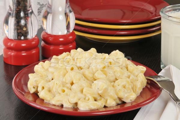 Parmigiano maccheroni formaggio salsa alimentare Foto d'archivio © MSPhotographic