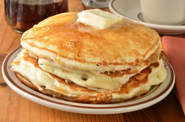 Buttermilk pancakes closeup Stock photo © MSPhotographic