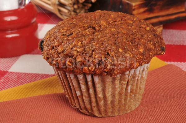 Korpa muffin szalvéta desszert vízszintes falatozó Stock fotó © MSPhotographic