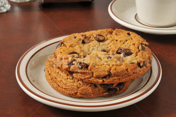 Thick chocolate chip cookies Stock photo © MSPhotographic