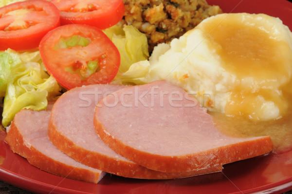 Ham diner salade vulling Stockfoto © MSPhotographic