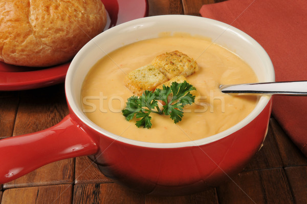 Lobster bisque in a stoneware mug Stock photo © MSPhotographic