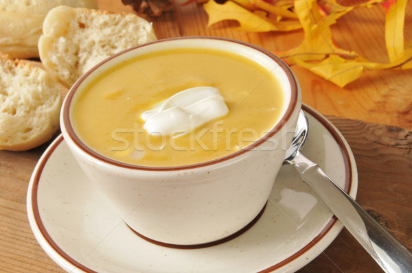 Butternut squash soup Stock photo © MSPhotographic