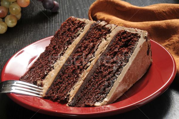 шоколадом эспрессо торт ломтик продовольствие Сток-фото © MSPhotographic