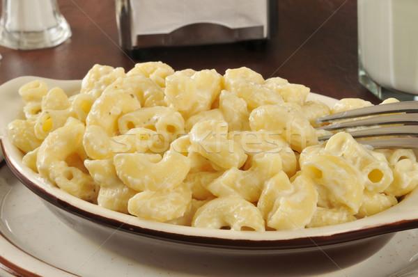 Parmezaan macaroni kaas schotel voedsel Stockfoto © MSPhotographic