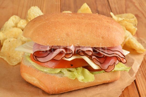 Ham and swiss sandwich Stock photo © MSPhotographic