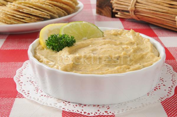 Bowl of hummus Stock photo © MSPhotographic