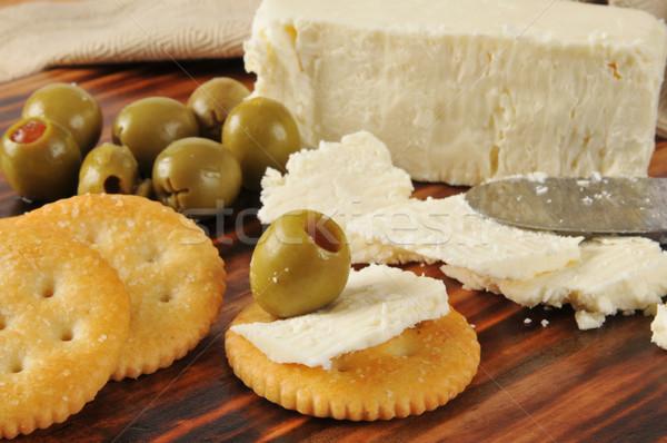Vert olives alimentaire horizontal Photo stock © MSPhotographic