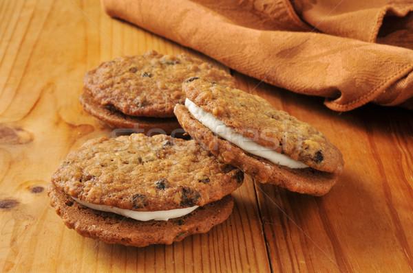 Oatmeal sandwich cookies Stock photo © MSPhotographic