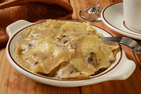 Mushroom Ravioli Stock photo © MSPhotographic
