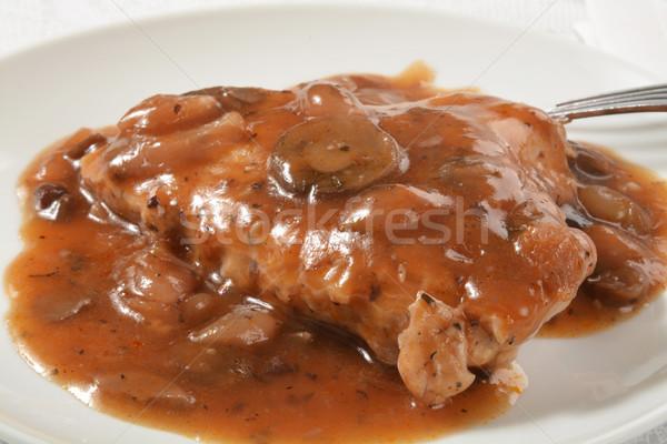 Chicken breast in wine sauce Stock photo © MSPhotographic