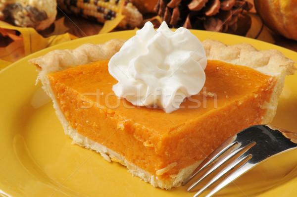 Patata dolce torta primo piano fetta autunno dessert Foto d'archivio © MSPhotographic