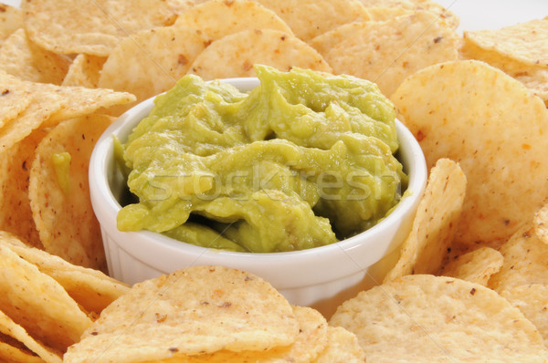 Tortilla chips plaat voedsel product Stockfoto © MSPhotographic