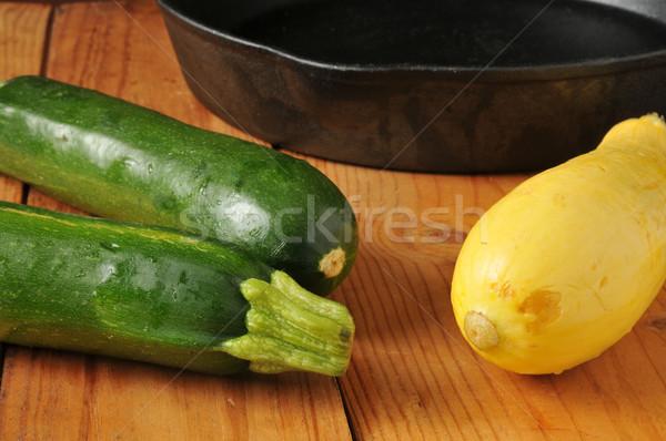 été squash courgettes fonte vert Photo stock © MSPhotographic