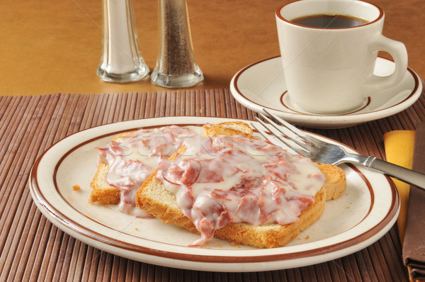 Chipped beef on toast Stock photo © MSPhotographic