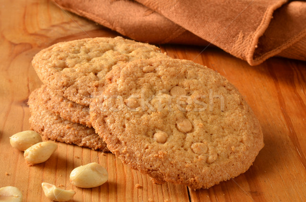 Beurre d'arachide cookies rustique bois contre Photo stock © MSPhotographic