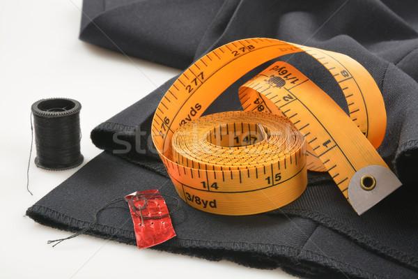 Pants aiguille mètre à ruban besoin vêtements matériel Photo stock © MSPhotographic