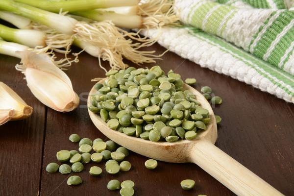 Split pea soup ingredients Stock photo © MSPhotographic