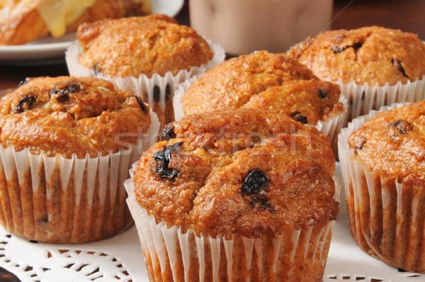 Son muffins raisins alimentaire fruits Photo stock © MSPhotographic