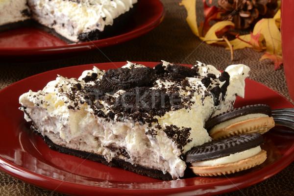 Cream pie with cookies Stock photo © MSPhotographic
