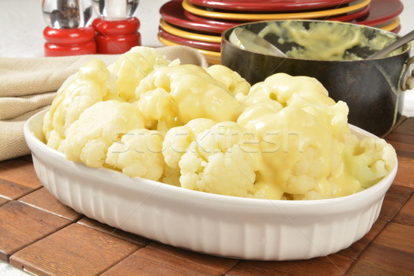 Cauliflower and hollandaise sauce Stock photo © MSPhotographic