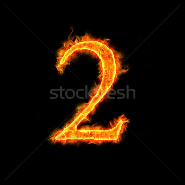 Stock photo: fire numbers, 2
