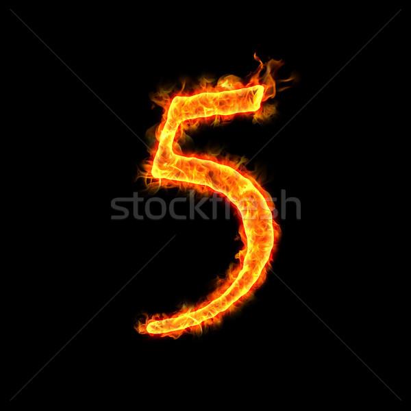 fire numbers, 5  Stock photo © mtkang