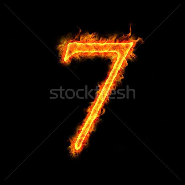 Stock photo: fire numbers, 7