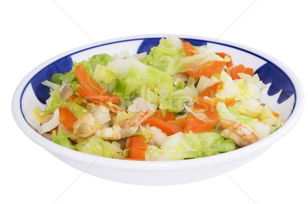 азиатских овощей стиль капуста морковь Домашняя кухня Сток-фото © mtkang