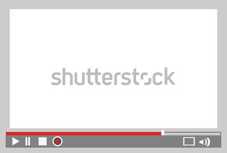 Video oyuncu menü arayüz kontrol Internet Stok fotoğraf © mtkang