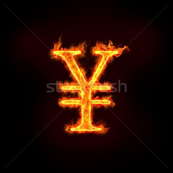 Japon yen Çin imzalamak Alevler kontrol Stok fotoğraf © mtkang