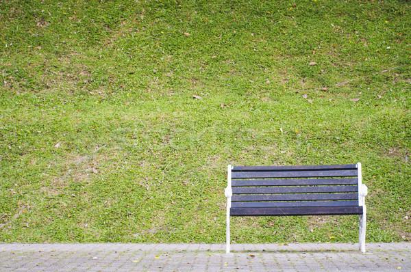 Bank park bekleme birisi tek başına Stok fotoğraf © mtkang