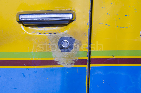 Araba kapı işlemek anahtar deliği eski araç Stok fotoğraf © mtkang