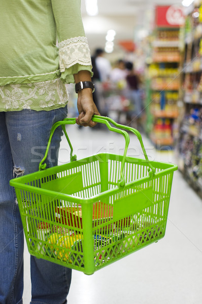 Bakkal alışveriş sepeti alışveriş süpermarket sepet Stok fotoğraf © mtkang