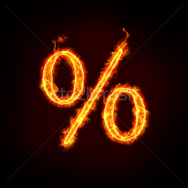 percentage sign for sale Stock photo © mtkang