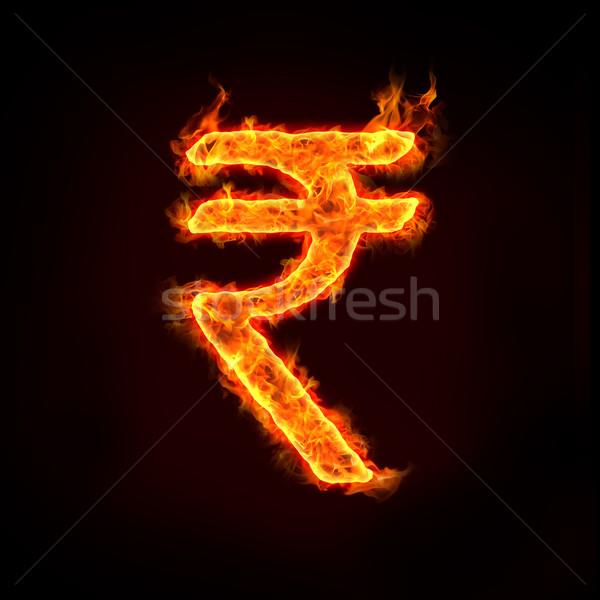 Hint Hindistan para simge iş banka Stok fotoğraf © mtkang