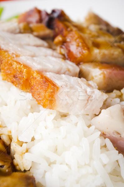 Domuz eti pirinç Çin stil Stok fotoğraf © mtkang