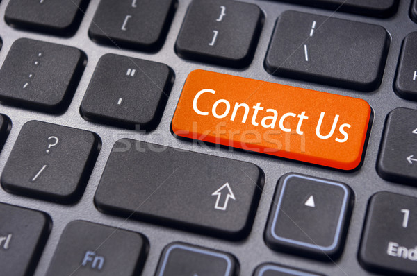 contact us message on enter key, for online conctact. Stock photo © mtkang