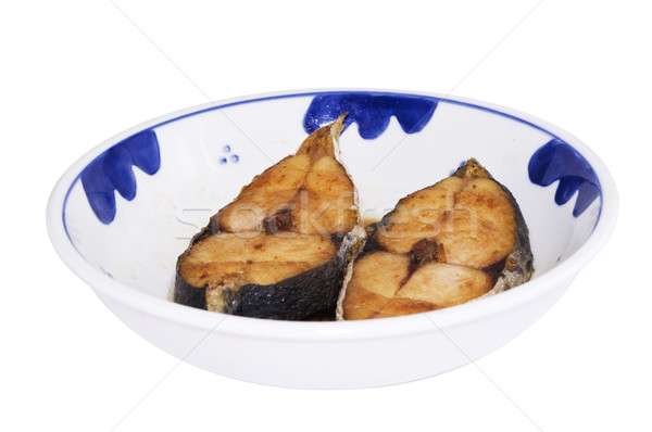 asian deep fried fish slice Stock photo © mtkang