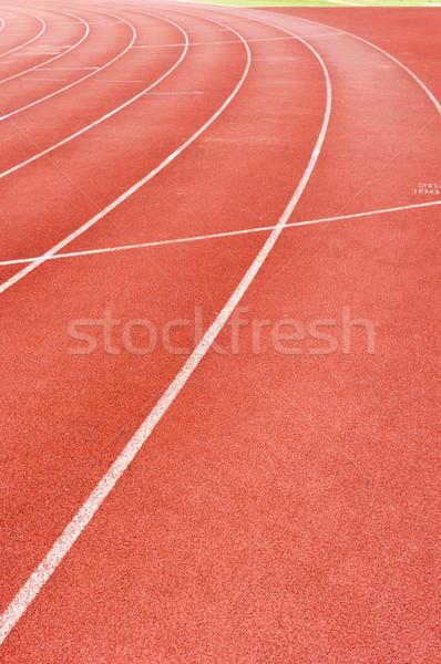 Lopen track race gezondheid sport oefening Stockfoto © mtkang