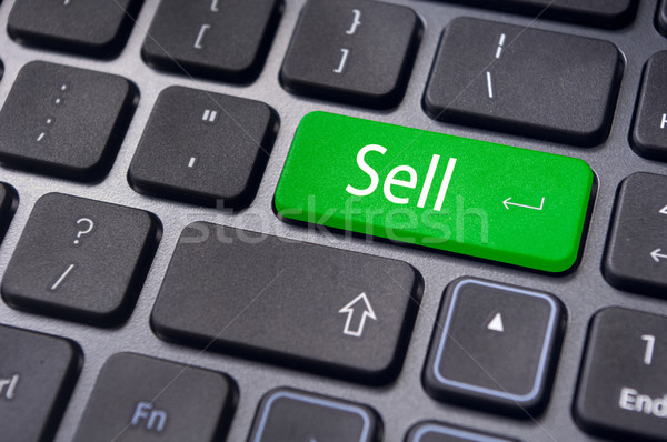 sell concepts for stock market Stock photo © mtkang
