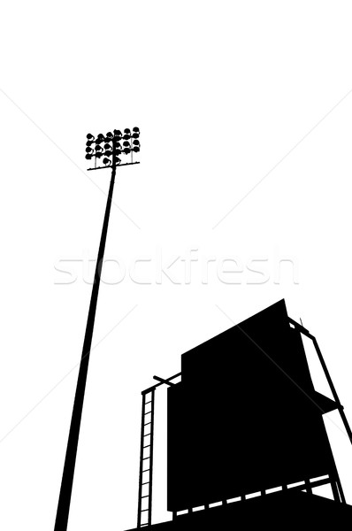 scoreboard in stadium in silhouette Stock photo © mtkang