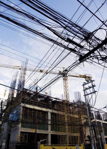 Asya fotoğrafları inşaat sanayi kablo Stok fotoğraf © mtkang