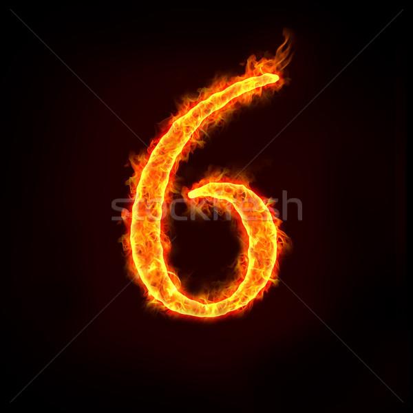 огня номера пламя шесть пламени аннотация Сток-фото © mtkang