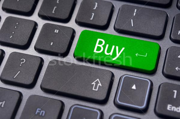 Stok fotoğraf: Satın · almak · kavramlar · online · alışveriş · borsa · mesaj · klavye