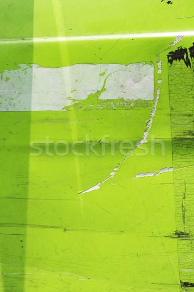 Stok fotoğraf: Metal · plaka · yeşil · grunge · dokular
