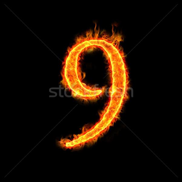 fire numbers, 9 Stock photo © mtkang