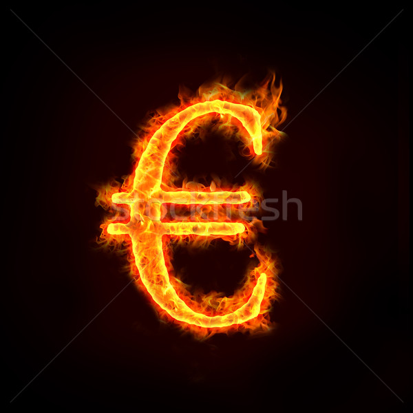 Euro imzalamak Alevler kontrol benim profil Stok fotoğraf © mtkang