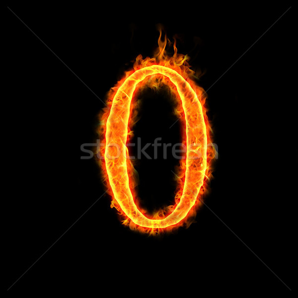 fire numbers,0 Stock photo © mtkang