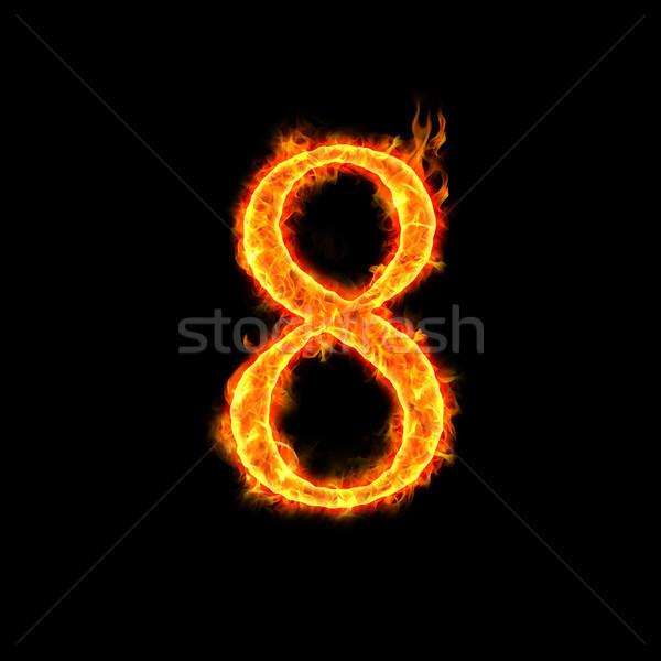 fire numbers, 8 Stock photo © mtkang